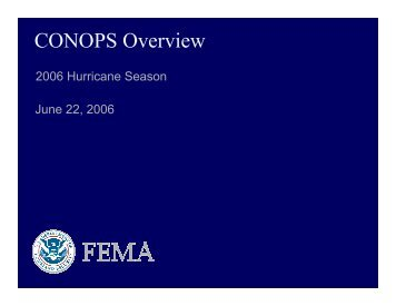 CONOPS Overview - U.S. National Response Team (NRT)