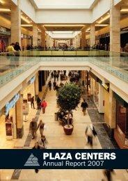 Annual Report 2007 - plazacenters