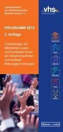 PROGRAMM 2012 2. Auflage - Landesverband der ...