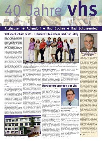 damals und heute - Volkshochschule Aulendorf