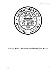 Sexually Harmful Behavior Intervention Program Manual - Georgia ...
