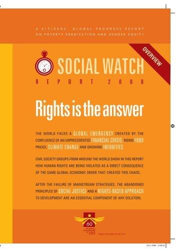 R E P O R T  2 0 0 8 - Social Watch