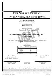 DNV Type Approval for the Flame Detector - Drass