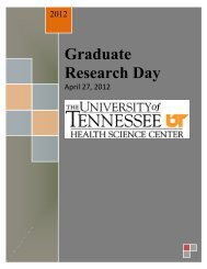 GRD Program 2012[1] - The University of Tennessee Health ...