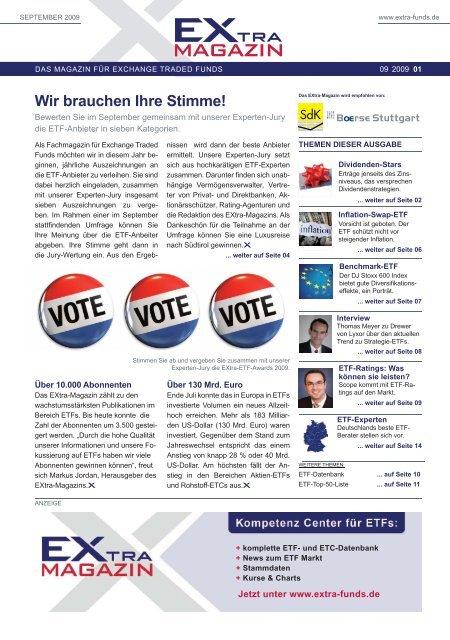 Wir brauchen Ihre Stimme! - EXtra-Magazin