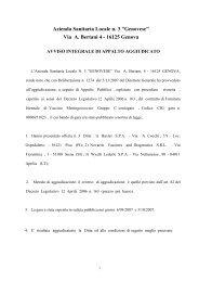 Azienda Sanitaria Locale n - ASL n.3 Genovese