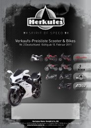Verkaufs-Preisliste Scooter & Bikes