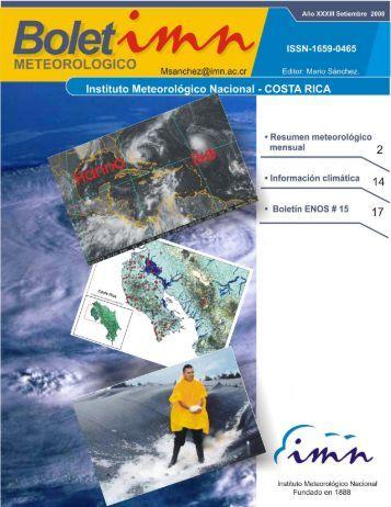 Setiembre 2008 - Instituto Meteorológico Nacional