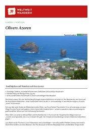 Azoren - Farbenspiel aus Grün und Blau - Weltweitwandern