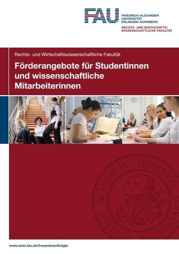 Förderangebote für Studentinnen und wissenschaftliche ...