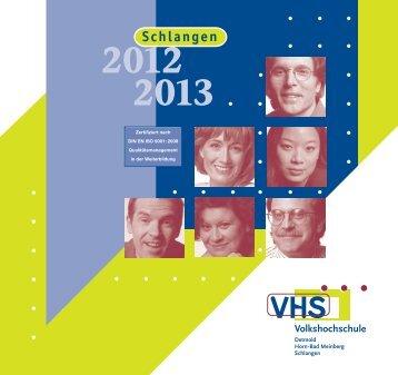 Semestereröffnung 2013 - Volkshochschule Detmold