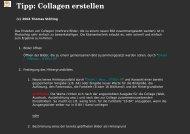 Tipp: Collagen erstellen
