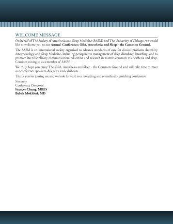 2011 Syllabus - Society of Anesthesia and Sleep Medicine