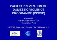 PICP presentation - Pacific Prevention of Domestic Violence ...