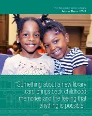 Annual Report for 2012 - Newark Public Library