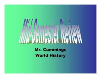 Mr. Cummings World History