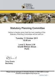 Statutory Planning Committee Meeting Agenda - Western Australian ...