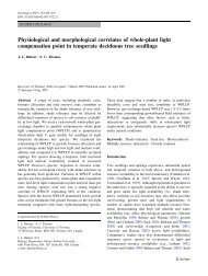 Physiological and morphological correlates of ... - Faculty of Forestry