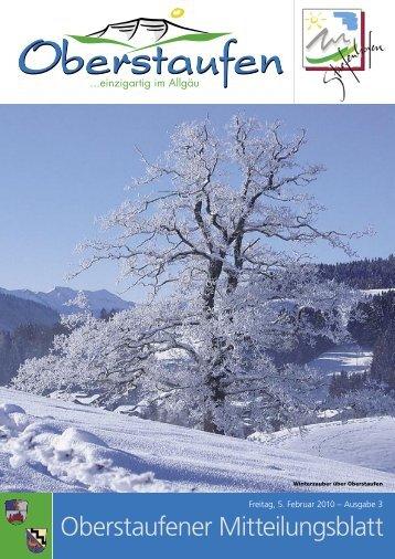 Oberstaufener Mitteilungsblatt - Stiefenhofen