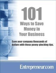 101 Ways to Save Money in Your Business - Entrepreneur.com