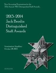 Breslin Distinguished Staff Award Nomination Form 2012-13