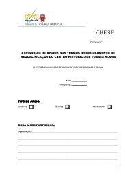CHERE - formulário - Câmara Municipal de Torres Novas
