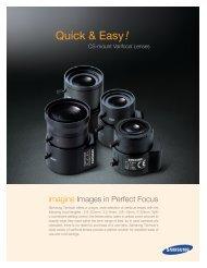 Samsung SLA-2810D CCTV camera lenses product datasheet