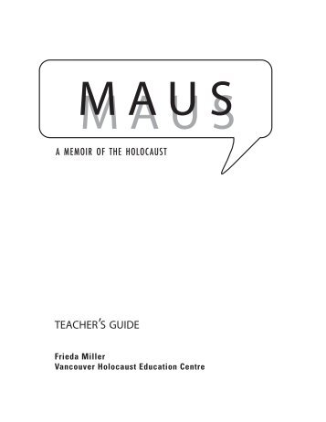 TEACHERLS GUIDE - Vancouver Holocaust Education Centre