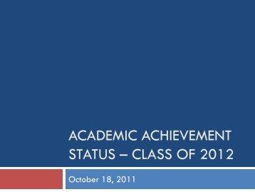 Class of 2012 - Bremen High School District 228 / Overview