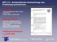 APT III: Automatische Auswertung von Prüfkörperaufnahmen ...
