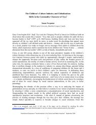 The Children's Culture Industry and Globalization: Shifts in the ...