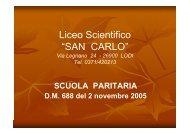 """Liceo """"San Carlo"""" - Centro Servizi Amministrativi di Lodi"""