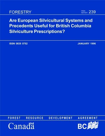 Are European Silvicultural Systems and Precedents Useful for ...
