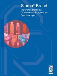 Fluorescence Reference Materials Catalog - Teknolab AS