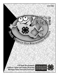 Life's a Kick! Youth Tobacco Use Prevention Project - Michigan State ...