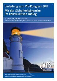 Einladung zum VfS-Kongress 2011 Mit der ... - Securiton GmbH