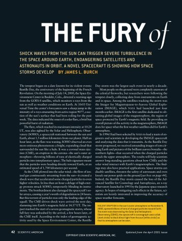 The Fury of Solar Storms - Scientific American Digital