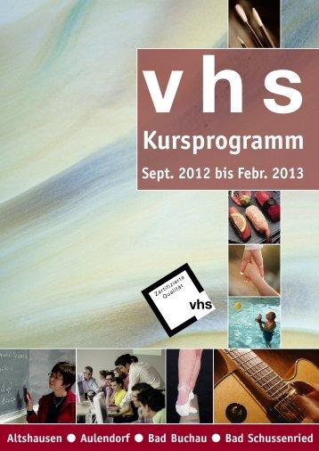 Frühjahr 2010 - Volkshochschule Aulendorf