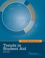 Trends in Student Aid 2012 - College Board Advocacy & Policy Center