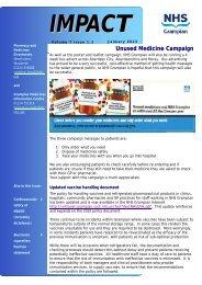 IMPACT vol 7 no 1 January 2013 - NHS Grampian
