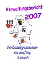 Verwaltungsbericht 2007 - VG Asbach