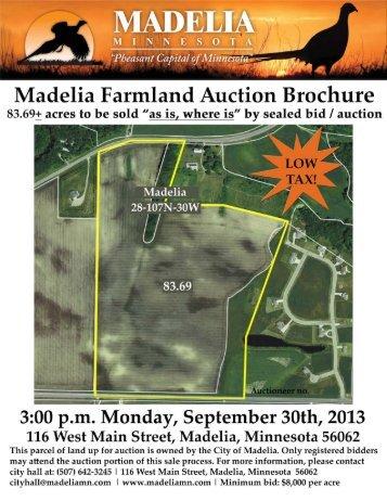 Madelia Farmland Auction Brochure