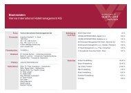 Stammdaten - Vienna International Hotelmanagement AG
