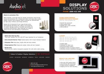 DISPLAY SOLUTIONS - GBC Australia