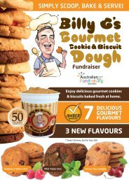Billy G's Cookie Dough Order Form - Australian Fundraising