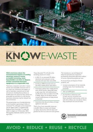 Get to know e-waste (fact sheet) - Zero Waste SA - SA.Gov.au