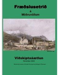 Fræðslusetrið á Möðruvöllum - Rannsóknastofnun landbúnaðarins