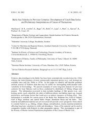 Baltic Sea Fisheries in Previous Centuries - History of Marine Animal ...