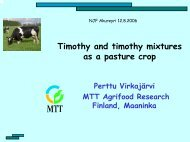 Timothy and timothy mixtures as a pasture crop