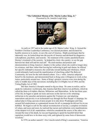 an analysis of martin luther king jrs i have a dream speech Martin luther king's i have a dream speech was delivered to a crowd of 200'000 civil rights activists and demonstrators gathered before the lincoln.